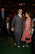 Johnny Depp and Vanessa Paradis, Finding Neverland UK charity premiere after-party. Coram's Fields. Guilford St. WC1. 17 October 2004.  ONE TIME USE ONLY - DO NOT ARCHIVE  © Copyright Photograph by Dafydd Jones 66 Stockwell Park Rd. London SW9 0DA Tel 020 7733 0108 www.dafjones.com