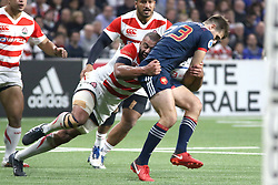 November 25, 2017 - Paris, France - Michael Leitch and Hugo Bonneval in action during the International test match between France and Japan at U Arena. (Credit Image: © Nicolas Briquet/SOPA via ZUMA Wire)