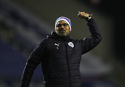 Huddersfield Town manager David Wagner celebrates at the final whistle - Mandatory by-line: Jack Phillips/JMP - 02/01/2017 - FOOTBALL - DW Stadium - Wigan, England - Wigan Athletic v Huddersfield Town - Football League Championship