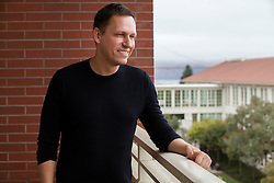 Portrait of Peter Thiel, a tech investor,  entrepreneur, venture capitalist, fund manager  and co-founder of Paypal, taken at his San Francisco office of the Founder's Fund.