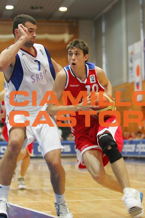 DESCRIZIONE : Nova Gorica U20 European Championship Men Qualifying Round Serbia Russia <br /> GIOCATORE : Shved <br /> SQUADRA : Russia <br /> EVENTO : Nova Gorica U20 European Championship Men Qualifying Round Serbia Russia Campionato Europeo Maschile Under 20 Qualificazioni Serbia Russia <br /> GARA : Serbia Russia <br /> DATA : 11/07/2007 <br /> CATEGORIA : Penetrazione <br /> SPORT : Pallacanestro <br /> AUTORE : Agenzia Ciamillo-Castoria/S.Silvestri <br /> Galleria : Europeo Under 20 <br /> Fotonotizia : Nova Gorica U20 European Championship Men Qualifying Round Serbia Russia <br /> Predefinita :