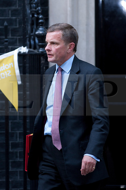 © Licensed to London News Pictures. 05/09/2012. LONDON, UK. David Jones, the Welsh Secretary, is seen leaving Number 10 Downing Street in London today (05/09/12) after attending the first cabinet meeting after a cabinet reshuffle that took place yesterday (04/09/12).  Photo credit: Matt Cetti-Roberts/LNP