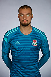 NANNING, CHINA - Saturday, March 24, 2018: Wales' goalkeeper Michael Crowe during a squad photo shoot at the Wanda Realm Hotel on day five of the 2018 Gree China Cup International Football Championship. (Pic by David Rawcliffe/Propaganda)