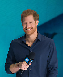 ***POOL*** Prince Harry attends a WE Youth event in the Air Canada Centre on September 28, 2017 in Toronto, Canada. <br />