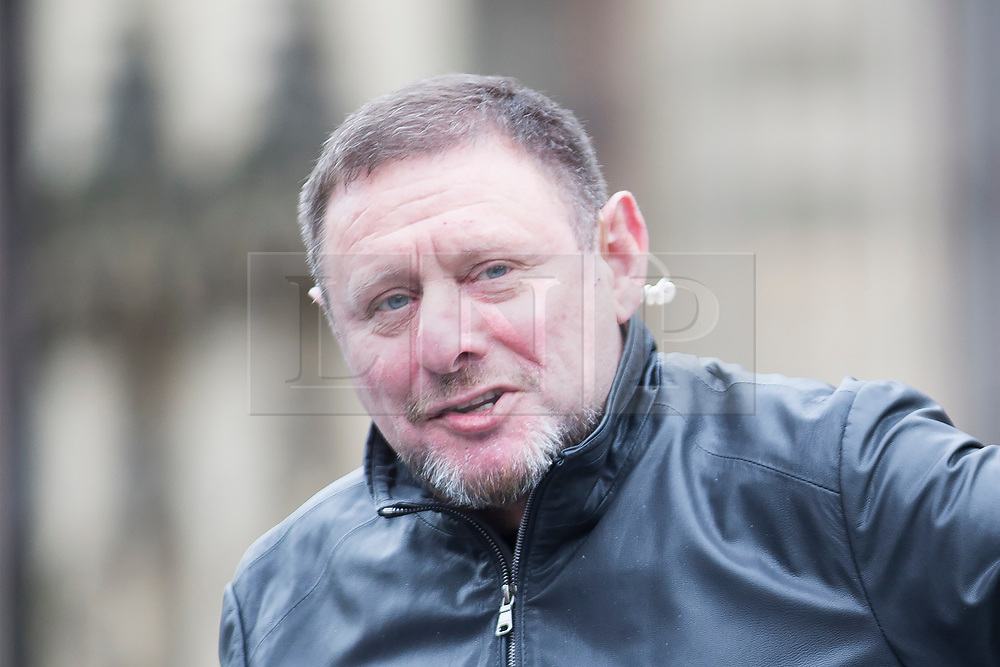 © Licensed to London News Pictures. 24/05/2017. Manchester, UK. Picture shows Happy Mondays front man Shaun Ryder speaking to media by the flowers outside Manchester Town hall this morning in memory of those who lost their lives in the Manchester bomb at the Manchester Arena. Photo credit: London News Pictures