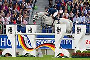 Peder Fredricson - H&M Arctic Aurora Borealis<br /> World Equestrian Festival, CHIO Aachen 2012<br /> © DigiShots