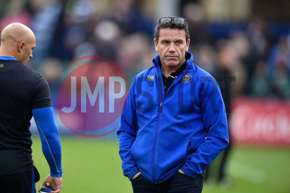 Bath Rugby Head Coach Mike Ford looks on - Mandatory byline: Patrick Khachfe/JMP - 07966 386802 - 10/10/2015 - RUGBY UNION - The Recreation Ground - Bath, England - Bath Rugby v Exeter Chiefs - West Country Challenge Cup.