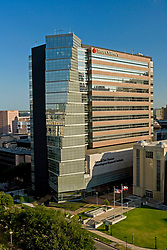 Aerial view of Texas Children's Hospital in Houston's Texas Medical Center.