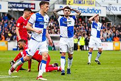 Dom Telford of Bristol Rovers looks frustrated - Rogan/JMP - 28/04/2018 - FOOTBALL - Memorial Stadium - Bristol, England - Bristol Rovers v Gillingham - EFL Sky Bet League One.