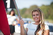 October 3-5, 2013. Lamborghini Super Trofeo - Virginia International Raceway. Grid girl.