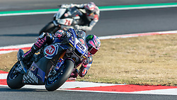 September 28, 2018 - 22, Alex Lowes, GBR, Yamaha YZF R1, Pata Yamaha Official WorldSBK Team, SBK 2018, MOTO - SBK Magny-Cours Grand Prix 2018, Free Practice 1, 2018, Circuit de Nevers Magny-Cours, Acerbis French Round, France ,September 28 2018, action during the SBK Free Practice 1 of the Acerbis French Round on September 28 2018 at Circuit de Nevers Magny-Cours, France (Credit Image: © AFP7 via ZUMA Wire)