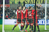 Football - 2016 / 2017 Premier League - Swansea City vs. AFC Bournemouth<br /> <br /> Bournemouth congratulate  Ryan Fraser after he scores his team's second goal---, at the Liberty Stadium.<br /> <br /> COLORSPORT/WINSTON BYNORTH