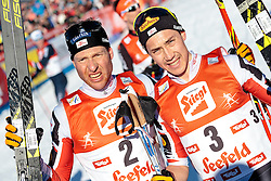 29.01.2017, Casino Arena, Seefeld, AUT, FIS Weltcup Nordische Kombination, Seefeld Triple, Langlauf, im Bild Bernhard Gruber (AUT), Mario Seidl (AUT) // Bernhard Gruber of Austria, Mario Seidl of Austria reacts after Cross Country Gundersen Race of the FIS Nordic Combined World Cup Seefeld Triple at the Casino Arena in Seefeld, Austria on 2017/01/29. EXPA Pictures © 2017, PhotoCredit: EXPA/ JFK