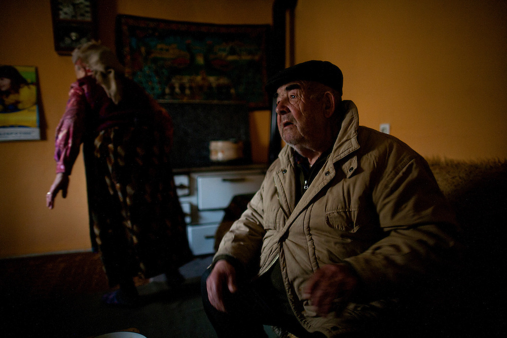 Ljubica and Jeftine (Jefta) Gogic in their home in Velika Hoca. They have been married since 1954. She is 72 years old and he 80, and they have 3 sons who all live in Serbia. None could afford to return to their village for Christmas...Orthodox Christmas (January 7) in the Serbian village of Velika Hoca, Kosovo.