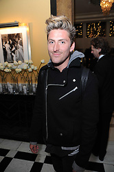 HENRY HOLLAND at the launch of the Claridge's Christmas Tree designed by John Galliano for Dior held at Claridge's, Brook Street, London on 1st December 2009.