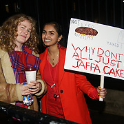 London, UK, 20th Dec 2017. Amika George 18 years old studend activist host a protests calling upon the government to provide free sanitary products to every girl in the UK who receives free school meals at Richmond Terrace, London, UK.