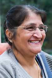 Older woman smiling,