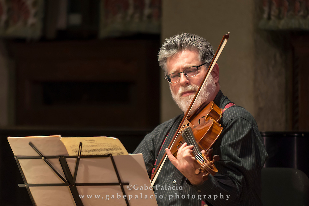 Edward Arron &amp; Friends performing in the Music Room of the Rosen House at Caramoor in Katonah New York on March 28, 2015. <br /> (photo by Gabe Palacio)