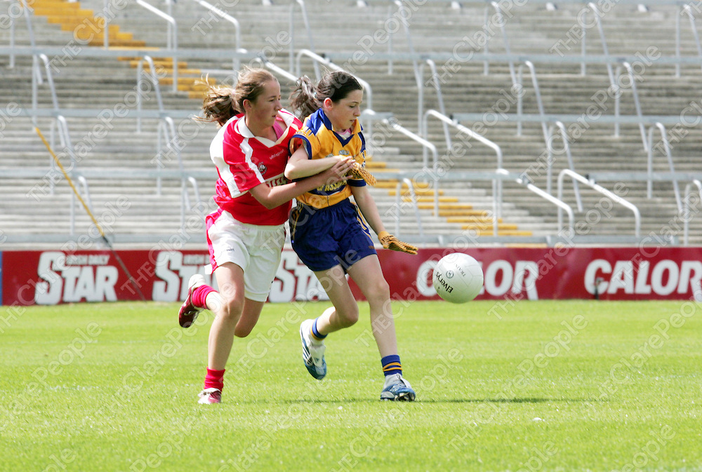 Clare V Cork in Cailini Oga at Gaelic grounds, Limerick City on Saturday 29th July 2006.<br />