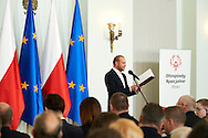 Famous actor Piotr Adamczyk Special Olympics Ambassador during 30 years anniversary of The Special Olympics Poland at Presidential Palace in Warsaw on March 18, 2015.<br /> <br /> Poland, Warsaw, March 18, 2015<br /> <br /> For editorial use only. Any commercial or promotional use requires permission.<br /> <br /> Mandatory credit:<br /> Photo by © Adam Nurkiewicz / Mediasport