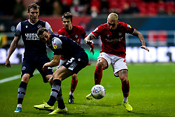Jack Hunt of Bristol City takes on Murray Wallace of Millwall - Mandatory by-line: Robbie Stephenson/JMP - 10/12/2019 - FOOTBALL - Ashton Gate - Bristol, England - Bristol City v Millwall - Sky Bet Championship