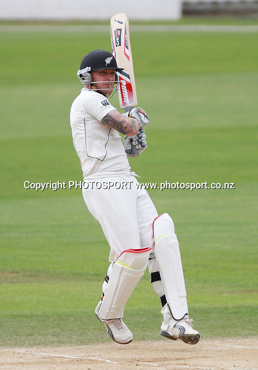 Brendon McCullum batting on Day 4 of the 2nd test match.  New Zealand Black Caps v Pakistan, Test Match Cricket. Basin Reserve, Wellington, New Zealand. Tuesday 18 January 2011. Photo: Andrew Cornaga/photosport.co.nz