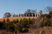 Foamhenge, a life size recreation of Stonehenge made from giant blocks of styrofoam by sculptor Mark Cline in Natural Bridge, Virginia, USA.
