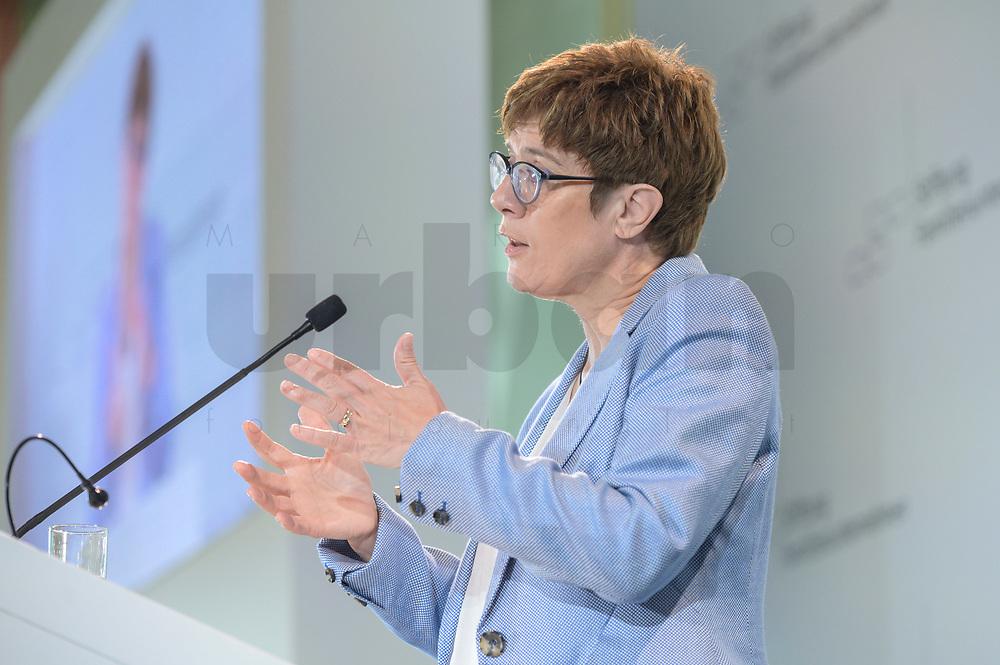 28 JUN 2019, BERLIN/GERMANY:<br /> Annegret Kramp-Karrenbauer, CDU Parteivorsitzende, haelt eine Rede auf dem Tag des Deutschen Familienunternehmens, Hotel Adlon<br /> IMAGE: 20190628-01-065<br /> KEYWORDS: AKK