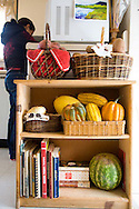 Margaret B. Jones preparing lunch in her kitchen at home in Eugene, Oregon