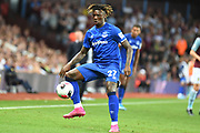 Everton forward Moise Kean (27) controls the ball during the Premier League match between Aston Villa and Everton at Villa Park, Birmingham, England on 23 August 2019.