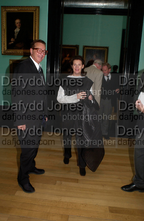Lord and Lady Saatchi. Celebration of Lord Weidenfeld's 60 Years in Publishing hosted by Orion. the Weldon Galleries. National Portrait Gallery. London. 29 June 2005. ONE TIME USE ONLY - DO NOT ARCHIVE  © Copyright Photograph by Dafydd Jones 66 Stockwell Park Rd. London SW9 0DA Tel 020 7733 0108 www.dafjones.com
