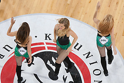Dragon ladies dance crew during basketball match between KK Union Olimpija and KK Krka in 4nd Final match of Telemach Slovenian Champion League 2011/12, on May 24, 2012 in Arena Stozice, Ljubljana, Slovenia. Krka defeated Union Olimpija 65-55. (Photo by Grega Valancic / Sportida.com)
