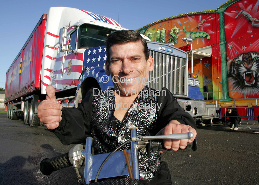 21/12/2004.The worlds smallest man Pityu who is 24 inches high pictured at Circus Vegas in Kilkenny yesterday..Picture Dylan Vaughan