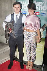 Grosvenor House Hotel, London, September 7th 2016. Celebrities attend the RSPCA's annual awards ceremony recognising the country's bravest animals and the individuals committed to improving their lives. PICTURED: Danny Boy Hatchard from Eastenders with his girlfriend