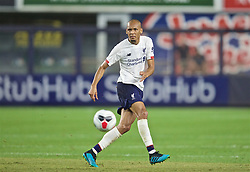 NEW YORK, NEW YORK, USA - Wednesday, July 24, 2019: Liverpool's Fabio Henrique Tavares 'Fabinho' during a friendly match between Liverpool FC and Sporting Clube de Portugal at the Yankee Stadium on day nine of the club's pre-season tour of America. (Pic by David Rawcliffe/Propaganda)