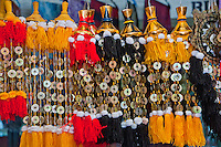 Religious decorations in the market at Klungklung in Bali Indonesia