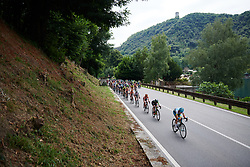 The peloton speed along the shoreline at Giro Rosa 2018 - Stage 5, a 122.6 km road race starting and finishing in Omegna, Italy on July 10, 2018. Photo by Sean Robinson/velofocus.com
