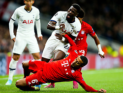 Serge Aurier of Tottenham Hotspur is fouled by Thiago Alcantara of Bayern Munich - Rogan/JMP - 01/10/2019 - FOOTBALL - Tottenham Hotspur Stadium - London, England - Tottenham Hotspur v Bayern Munich - UEFA Champions League Group B.