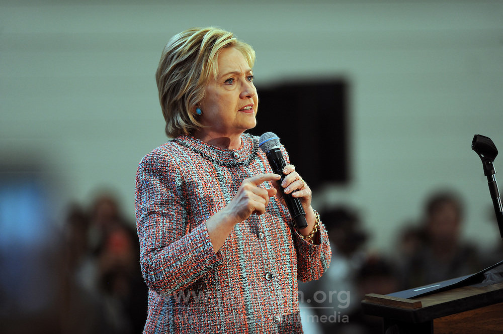 Presidential candidate Hillary Clinton at Hartnell College in Salinas on Wednesday, May 25th, 2016.