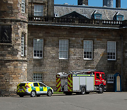 Emergency services rushed to the Palace of Holyroodhouse in Edinburgh after reports of a suspicious package.<br /> <br /> &copy; Dave Johnston/ EEm