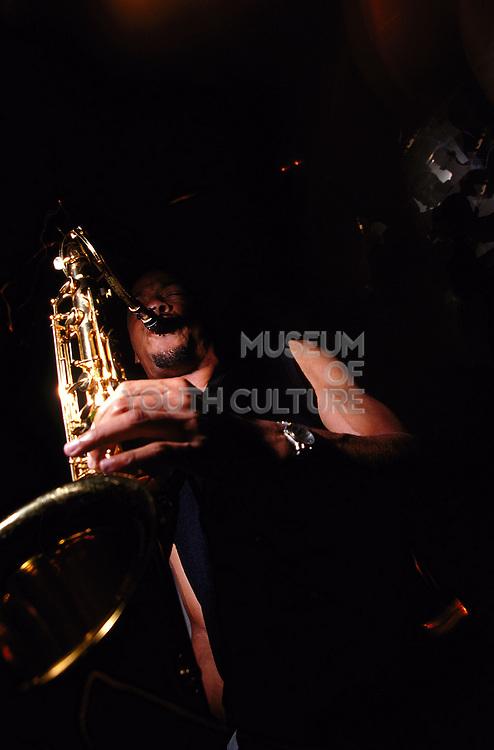 Saxophone player Progress Derby July 1999
