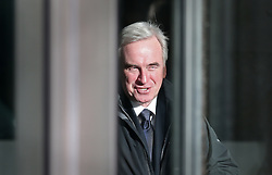 © Licensed to London News Pictures. 22/11/2015. London, UK. Shadow Chancellor John McDonnell leaves Broadcasting House before after his appearance on the Andrew Marr Show. Photo credit: Peter Macdiarmid/LNP