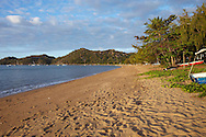 View of tyhe beach in front of Villa Kembali, Horseshoe Bay, Magnetic Island, Queensland, Australia