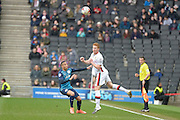 MK Dons defender Dean Lewington   during the Sky Bet Championship match between Milton Keynes Dons and Queens Park Rangers at stadium:mk, Milton Keynes, England on 5 March 2016. Photo by Dennis Goodwin.