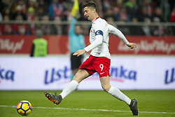 March 23, 2018 - Wroclaw, Poland - Robert Lewandowski of Poland kicks the ball during the international friendly match between Poland and Nigeria at Wroclaw Stadium in Wroclaw, Poland on March 23, 2018  (Credit Image: © Andrew Surma/NurPhoto via ZUMA Press)