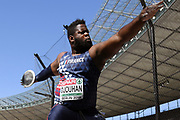 Lolassonn Djouhan competes in men discus throw during the European Championships 2018, at Olympic Stadium in Berlin, Germany, Day 1, on August 7, 2018 - Photo Philippe Millereau / KMSP / ProSportsImages / DPPI