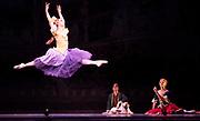 Dance phenomenon Les Ballet Trockedero de Monte Carlo is the award-winning, all-male, comedy ballet company hailing from New York. <br /> <br /> La Trovatiara Pas de Cinq, choreographed by Peter Anastos and featuring Alberto Pretto. <br /> Also, Dying Swan danced by Duane Gosa.<br /> Peacock Theatre, London.<br /> <br /> &copy; Tony Nandi 2018