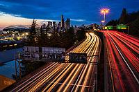 Twilight on Interstate 5
