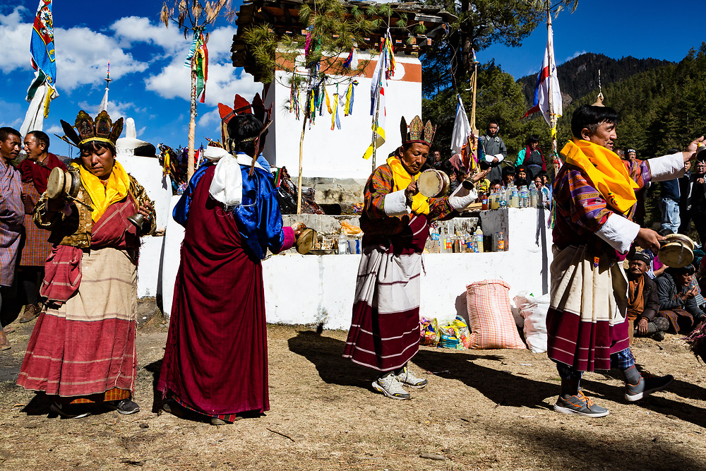 I was extremely lucky to attend a Bon festival in the Ha valley of Bhutan. Bon is the religion before buddhism came to Bhutan and the Himalaya region. I felt completely honoured and extremely lucky to have been there.