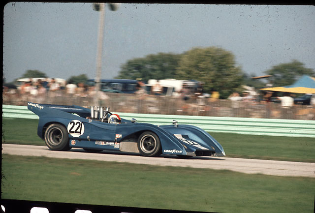 Francois Cevert, McLaren M8F, in 1972 Road America (Elkhart Lake) Can-Am